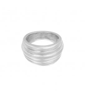 Zilverkleurige ring met vijf lagen (16)