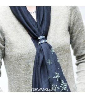 Blauwe sjaal riempjes voor het dragen van een sjaal