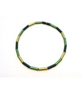 Mooie groen met lichtgroene halsketting