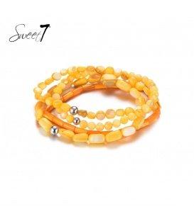 Armband van stukjes oranje schelp