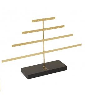 Goudkleurige luxe displayrek dat ruimte biedt aan 80 oorbellen (40 paar)