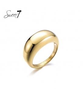 Goudkleurige simpele ring (18)