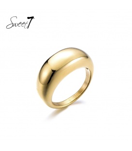 Goudkleurige simpele ring (17)