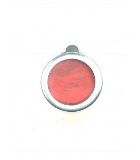 Rode oorclips met een zilverkleurige rand van Culture Mix