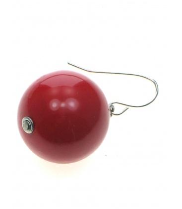 Rode bolle oorbellen