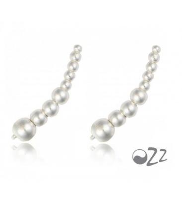 Zilveren (925) oorbellen (earline) in parelstreng vorm