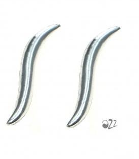 925 zilveren earlines in de vorm van een streep