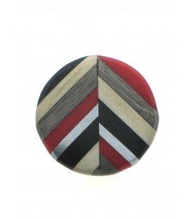 Rood met bruin en zilverkleur ronde oorclips van Culture Mix