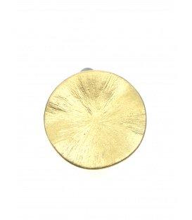 Goudkleurige gematteerde ronde oorclips van Culture Mix