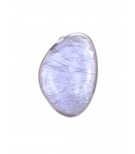 Culture Mix paarse oorclips met parelmoer inleg.