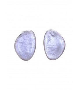 Culture Mix paarse oorclips met parelmoer inleg