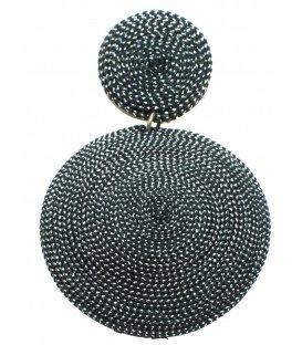 Grote zilverkleurige oorclips van Culture Mix