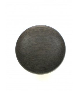 Houten ronde bruine oorclips van Culture Mix