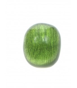Groene bolle oorclips van Culture Mix
