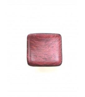 Rozerode vierkante oorclips van Culture Mix