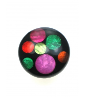 Ronde oorclips met vrolijke kleuren gemaakt door Culture Mix