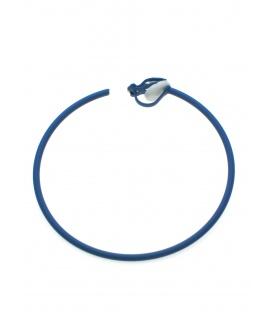Ronde blauwe creool oorclips