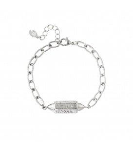 Armband Hanger Happy Vibes Zilver