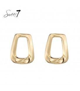 Goudkleurige vierkante oorbellen