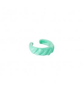 Groene earcuff met diagonale strepen