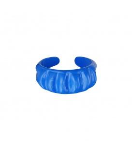 Leuke blauwe metalen ring