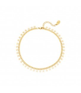 Goudkleurige armband met sterretjes