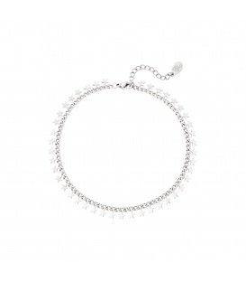 Zilverkleurige armband met sterretjes