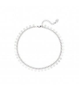 Zilverkleurige armband met cirkeltjes
