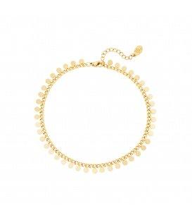 Goudkleurige armband met cirkeltjes