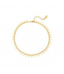 Goudkleurige armband met rechthoeken
