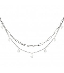 Zilverkleurige halsketting Chain My Heart