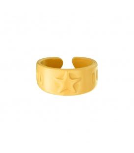 Gele metalen ring met sterren