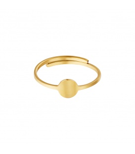 Goudkleurige ring met een cirkel