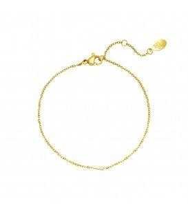 Goudkleurige armband met initiaal I