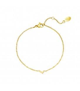 Goudkleurige armband met initiaal L
