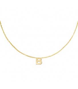Goudkleurige halsketting met initiaal B