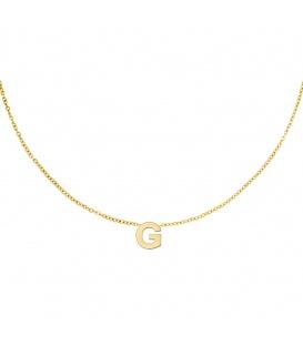 Goudkleurige halsketting met initiaal G