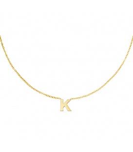 Goudkleurige halsketting met initiaal K