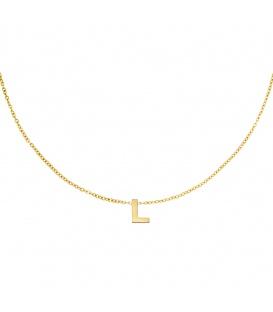Goudkleurige halsketting met initiaal L