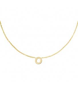 Goudkleurige halsketting met initiaal O