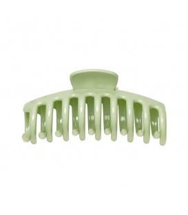 Grote groene haarclip met een glanzende afwerking