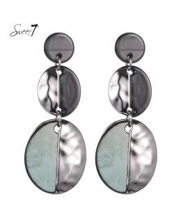 Gekleurde oorhangers met 2 ovale hangers