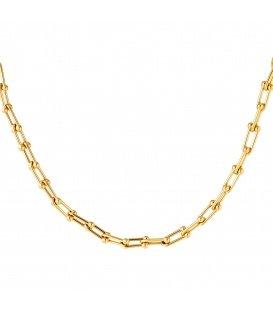 Goudkleurige halsketting in kettingstijl