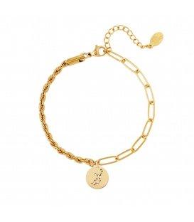 Goudkleurige armband met sterrenbeeld maagd