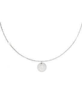Zilverkleurige halsketting met sterrenbeeld boogschutter