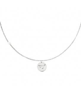 Zilverkleurige halsketting met sterrenbeeld steenbok