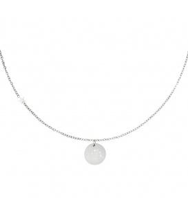 Zilverkleurige halsketting met sterrenbeeld waterman