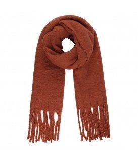Stijlvolle lange bruine winter sjaal