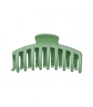 Groene grote haarclip met matte afwerking