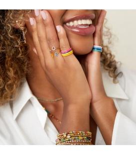 Goudkleurige minimalistische ring met een gele coating (16)
